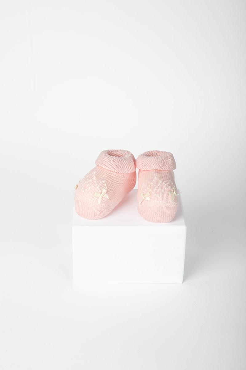 Babbuccia Ricamo e Fiocchetti 42688 Rosa 2