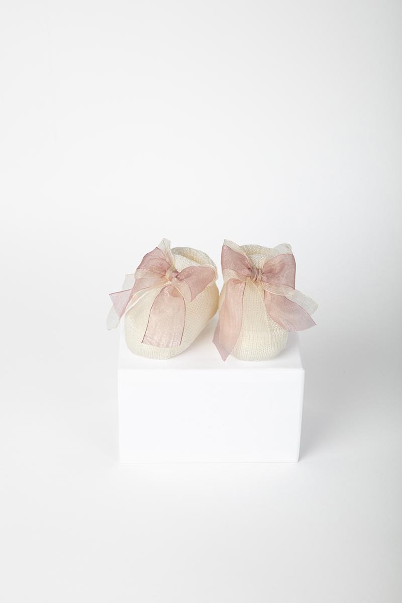 Babbuccia Fiocco 42092 Avorio/Rosa 2
