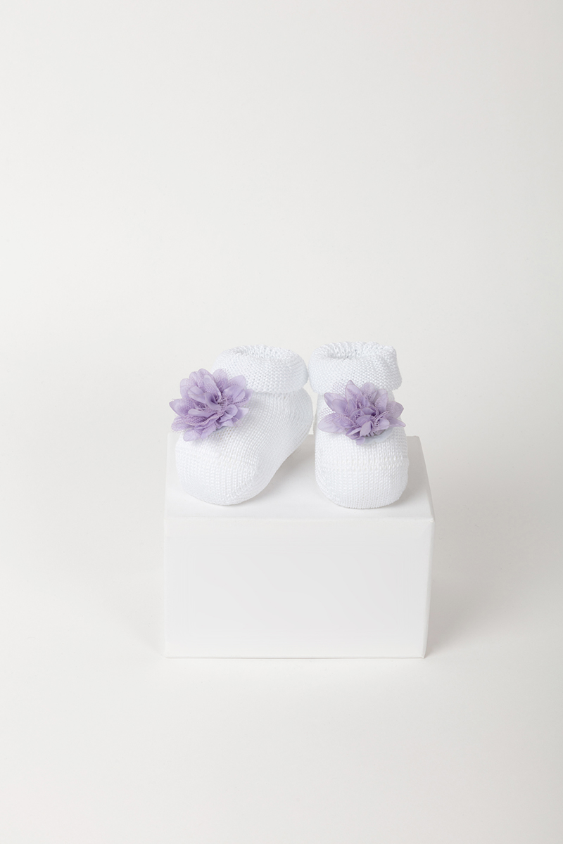 Babbuccia 42752 Bianco/Lilla 3