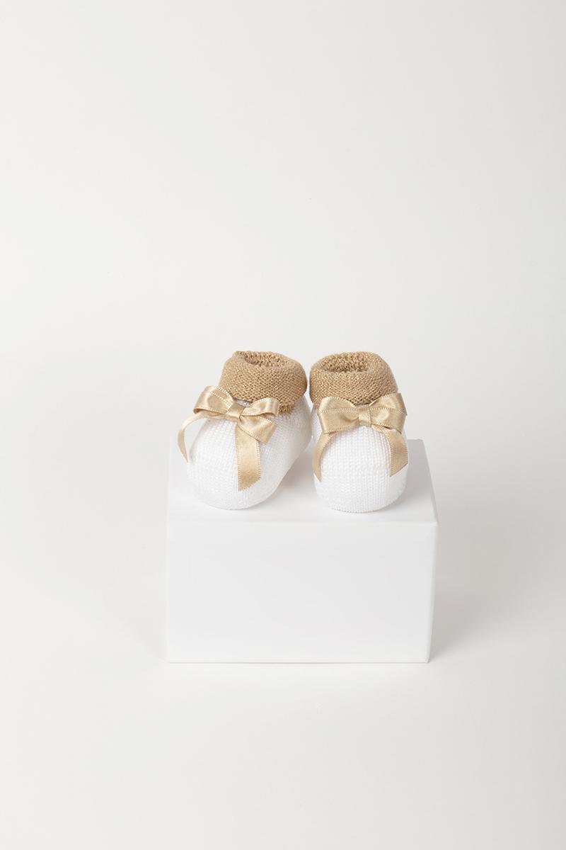 Babbuccia 43162 Bianco/Oro 2